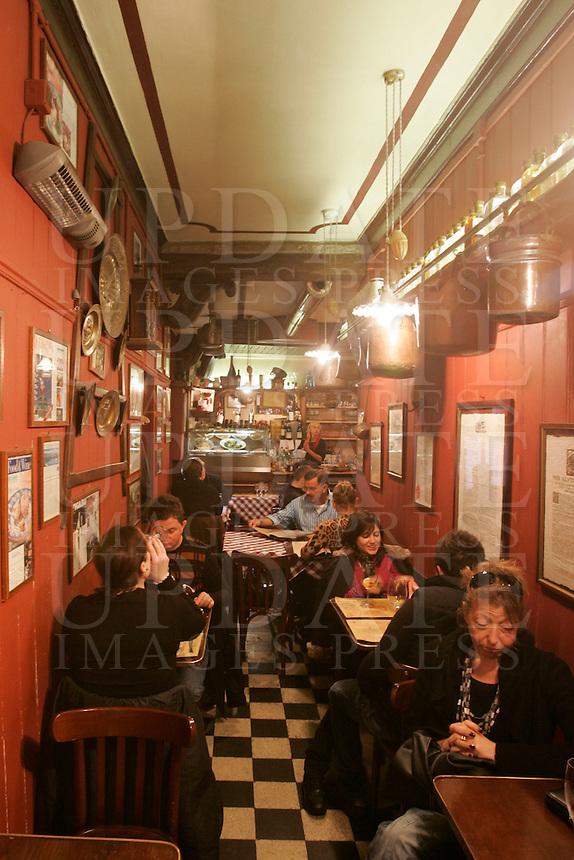 L'interno dell'Osteria Antico Dolo a Venezia.<br /> Interior of the Ostaria Antico Dolo in Venice.<br /> UPDATE IMAGES PRESS/Riccardo De Luca