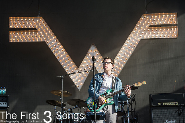 Rivers Cuomo of Weezer performs at the 2nd Annual BottleRock Napa Festival at Napa Valley Expo in Napa, California.