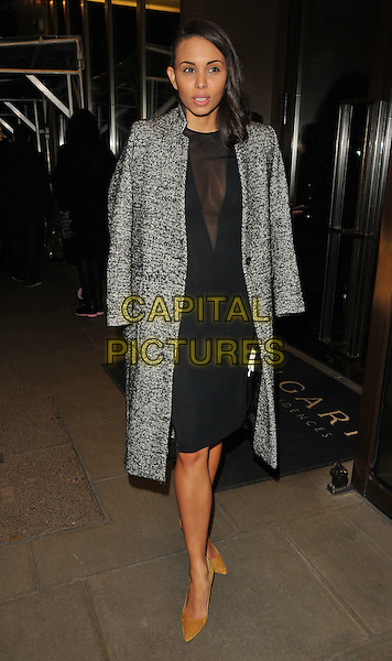 Louise Hazel at the Glass Magazine 7th Anniversary Dinner, Bulgari Hotel, Knightsbridge, London, England, UK, on Wednesday 25 January 2017.<br /> CAP/CAN<br /> &copy;CAN/Capital Pictures