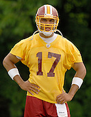 Ashburn, VA - June 16, 2007 -- Washington Redskin quarterback Jason Campbell (17) watches as his teammates participate in day 2 of their second and final mini-camp at Redskin Park in Ashburn, Virginia on Saturday, June 16, 2007..Credit: Ron Sachs / CNP