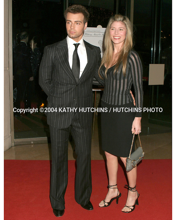©2004 KATHY HUTCHINS / HUTCHINS PHOTO.THE 5TH ANNUAL HOLLYWOOD MAKEUP ARTIST AND HARISTYLIST GUILD AWARDS.BEVERLY HILLS, CA.JANUARY 17, 2004..JOE LAWRENCE.AND WIFE MICHELLE