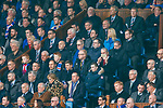 Steven Gerrard in the Rangers directors box for the Rangers v Celtic match at Ibrox last month