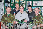 CAREER: Looking over leaflets on the Army were students from Tech Killarney, at the School Careers Day in the Brandon Hotel, Tralee on Thursday. Pictured are l-r: Sgt John O'Reilly, Stephen Brosnan, Sean McCarthy, Paul Moynihan and Pte Denis Walsh.   Copyright Kerry's Eye 2008