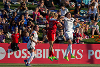 Boyds, MD. - Saturday, June 24 2017:  Kristie Mewis, Christine Sinclair during a regular season National Women's Soccer League (NWSL) match between the Washington Spirit and the Portland Thorns FC at Maureen Hendricks Field, Maryland SoccerPlex.<br />  The Washington Spirit defeated the Portland Thorns FC 1-0.