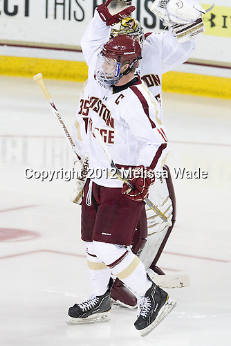 Pat Mullane (BC - 11), Milner - The Boston College Eagles defeated the visiting Dartmouth College Big Green 6-3 (EN) on Saturday, November 24, 2012, at Kelley Rink in Conte Forum in Chestnut Hill, Massachusetts.