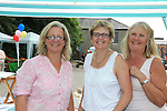 Karen Slone, Shiela Finnamore and Liz Ann Allen<br /> at the summer fair in St Peters church of Ireland.<br /> Picture:  www.newsfile.ie