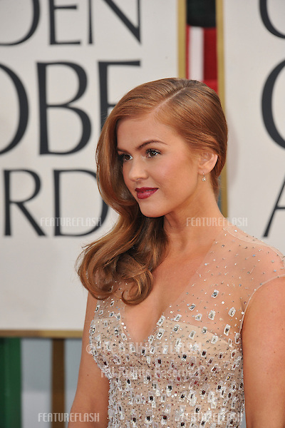 Isla Fisher at the 70th Golden Globe Awards at the Beverly Hilton Hotel..January 13, 2013  Beverly Hills, CA.Picture: Paul Smith / Featureflash