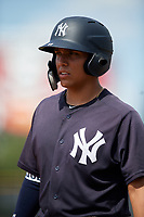 New York Yankees Anthony Seigler (11) during a Florida Instructional League game against the Pittsburgh Pirates on September 25, 2018 at Yankee Complex in Tampa, Florida.  (Mike Janes/Four Seam Images)