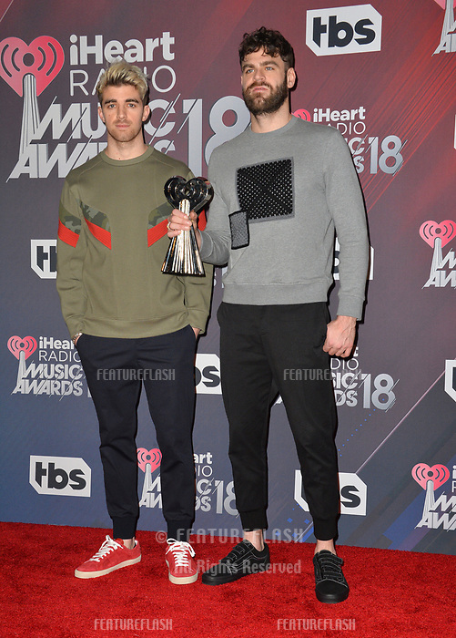 The Chainsmokers at the 2018 iHeartRadio Music Awards at The Forum, Los Angeles, USA 11 March 2018<br /> Picture: Paul Smith/Featureflash/SilverHub 0208 004 5359 sales@silverhubmedia.com