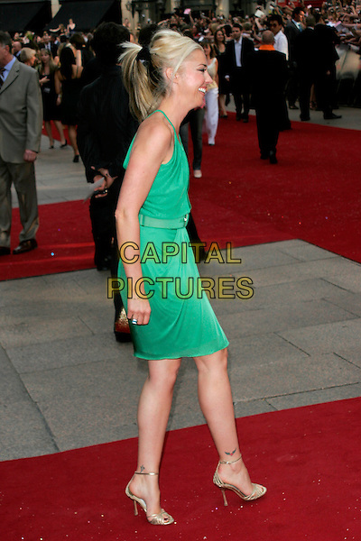 """TAMARA BECKWITH.Arrivals at the """"Sex And The City: The Movie"""" World Premiere, Odeon Leicester Square, London, England, UK. .May 12th 2008 .SATC full length green dress profile ponytail.CAP/AH.©Adam Houghton/Capital Pictures."""