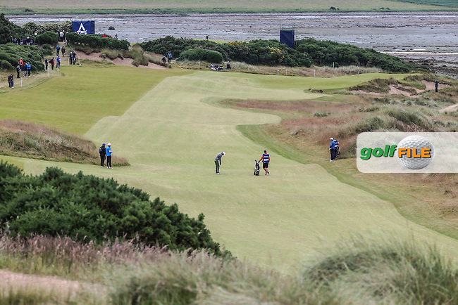 View of the 3rd fairway and green during Round Three of the 2016 Aberdeen Asset Management Scottish Open, played at Castle Stuart Golf Club, Inverness, Scotland. 09/07/2016. Picture: David Lloyd | Golffile.<br /> <br /> All photos usage must carry mandatory copyright credit (&copy; Golffile | David Lloyd)