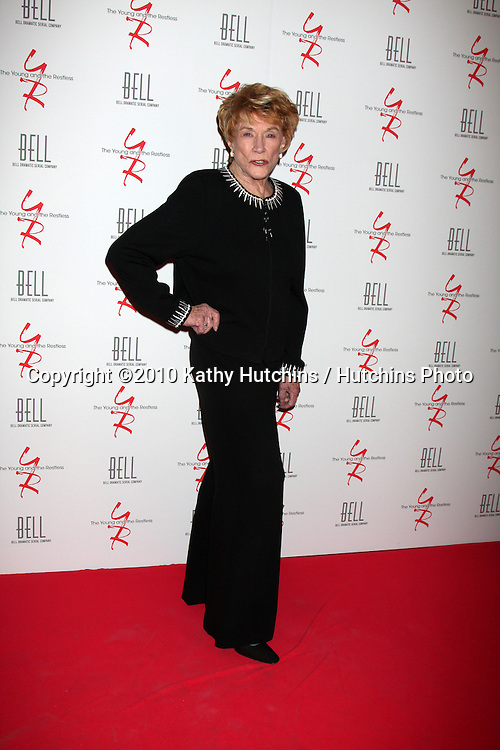 Jeanne Cooper.arrivng at The Young & The Restless 37th Anniversary Dinner.Via Allorro.Beverly Hills, CA.March 9, 2010.©2010 Kathy Hutchins / Hutchins Photo....