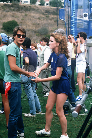 Melissa Gilbert and Rob Lowe photographed in the 1980's. © Nancy Barr  / MediaPunch
