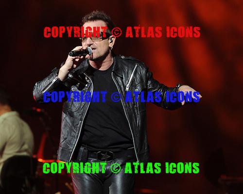 MIAMI GARDENS, FL - JUNE 29:  Bono of U2 performs at Sun Life Stadium on June 29, 2011 in Miami Gardens, Florida. Credit Larry Marano (C) 2011