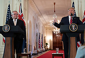 United States President Donald J. Trump and Prime Minister Scott Morrison of Australia conduct a joint press conference in the East Room of the White House in Washington, DC on Friday, September 20, 2019.<br /> Credit: Ron Sachs / Pool via CNP