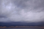 Storm clouds spread across the horizon, Spice Islands, Maluku Region, Halmahera, Indonesia, Pacific Ocean