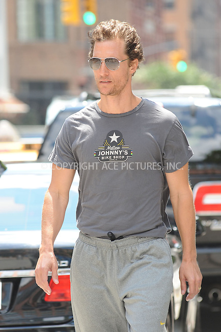 WWW.ACEPIXS.COM . . . . . .July 24, 2012...New York City....Matthew McConaughey takes a walk in Tribeca on July 24, 2012 in New York City. ....Please byline: KRISTIN CALLAHAN - WWW.ACEPIXS.COM.. . . . . . ..Ace Pictures, Inc: ..tel: (212) 243 8787 or (646) 769 0430..e-mail: info@acepixs.com..web: http://www.acepixs.com .