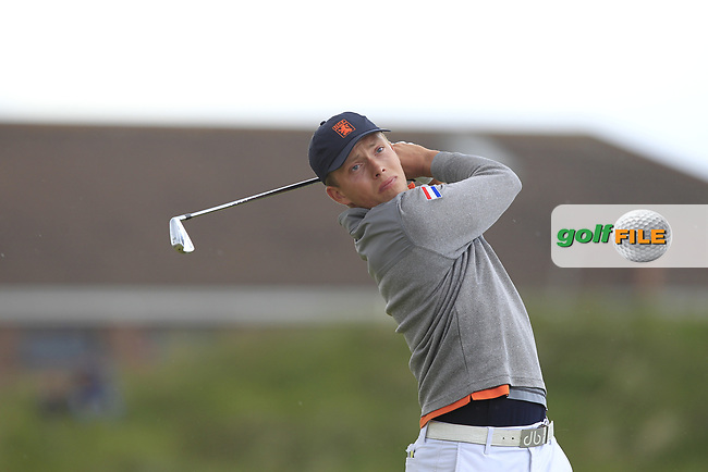Koen Kouwenaar (NED) on the 5th tee during Round 1 of the The Amateur Championship 2019 at The Island Golf Club, Co. Dublin on Monday 17th June 2019.<br /> Picture:  Thos Caffrey / Golffile<br /> <br /> All photo usage must carry mandatory copyright credit (© Golffile | Thos Caffrey)