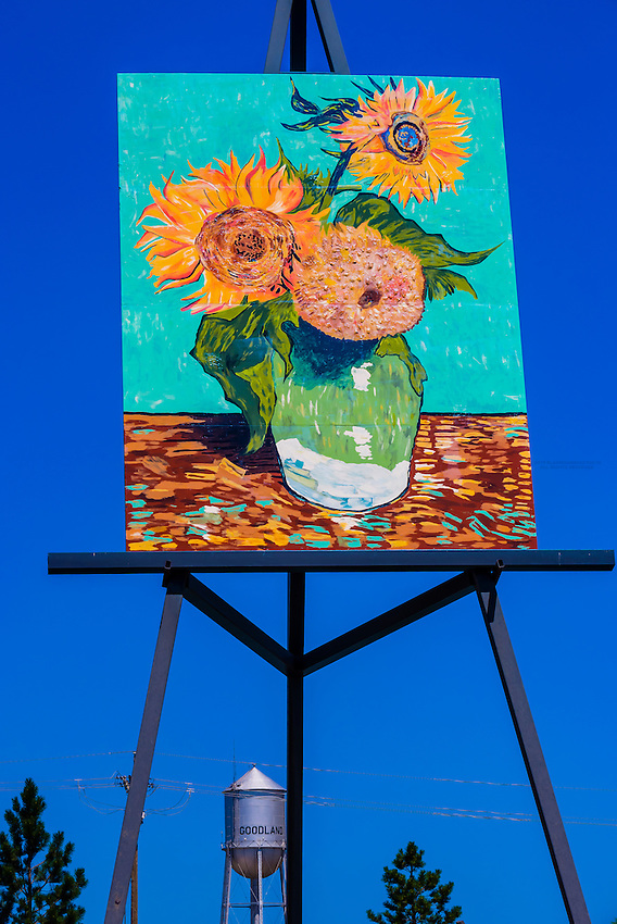 Replica Of Van Goghs Three Sunflowers In A Vase By Cameron Cross The Painting Is