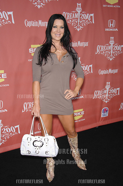 "Joanie ""Chyna Doll"" Laurer at Spike TV's ""Scream 2007"" Awards honoring the best in horror, sci-fi, fantasy & comic genres, at the Greak Theatre, Hollywood..October 20, 2007  Los Angeles, CA.Picture: Paul Smith / Featureflash"