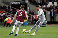 Jesse Lingard of Manchester United and Aaron Cresswell of West Ham United during West Ham United vs Manchester United, Premier League Football at The London Stadium on 10th May 2018