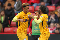 Preston North End's Daniel Johnson celebrates scoring his sides first goal <br /> <br /> Photographer Mick Walker/CameraSport<br /> <br /> The EFL Sky Bet Championship - Sheffield United v Preston North End - Saturday 22 September 2018 - Bramall Lane - Sheffield<br /> <br /> World Copyright &copy; 2018 CameraSport. All rights reserved. 43 Linden Ave. Countesthorpe. Leicester. England. LE8 5PG - Tel: +44 (0) 116 277 4147 - admin@camerasport.com - www.camerasport.com