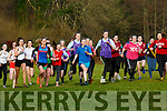 The runners take off at the start of the Intermediate Girls race at the Kerry Schools Cross Country championships in Killarney on Friday