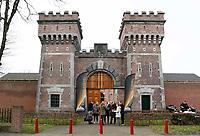 Nederland  Breda 2016. De Koepel, ook wel bekend als De Boschpoort gevangenis werd in 1886 opgeleverd. In 2017 krijgt de Koepel een nieuwe bestemming in de vorm van een Futuredome. In de week van Serious Request, is de Koepel als gevangenis van binnen te zien. Er worden rondleidingen gegeven en je kunt het Escape De Koepel spel doen; een Pop-up Escape Room. Foto Berlinda van Dam / Hollandse Hoogte