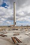 U.S.A., Northwest, Oregon, Eastern Oregon, Harney County, Hines, abandoned Edward Hines Lumber Mill, western depression