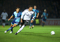 Marcelo of Fulham and Nathan Tyson of Wycombe Wanderers during the Carabao Cup match between Wycombe Wanderers and Fulham at Adams Park, High Wycombe, England on 8 August 2017. Photo by Alan  Stanford / PRiME Media Images.