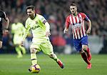 Club Atletico de Madrid's Koke Resurreccion (R) and Futbol Club Barcelona's Leo Messi during La Liga match. November 24,2018. (ALTERPHOTOS/Alconada)