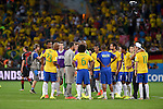 Brazil team group (BRA),<br /> JULY 8, 2014 - Football / Soccer : FIFA World Cup 2014 semi-finals match between Brazil 1-7 Germany at Mineirao stadium in Belo Horizonte, Brazil.<br /> (Photo by FAR EAST PRESS/AFLO)