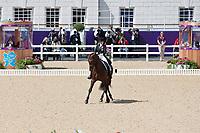 BRA-Luiza Taveres De Almeida (PASTOR) 2012 GBR-London Olympic Games - Greenwich Park: EQUESTRIAN/Dressage - Grand Prix: PLACE-47TH