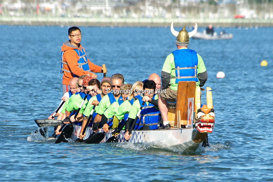 Dozens of teams and hundreds of rowers competed in the first ever Cape May Dragon Boat Festival which featured dragon boat races in Cape May Harbor. Dragon boat races originated in China more than 2,000 years ago. The modern-day event was organized by the Chamber of Commerce of Greater Cape May using boats provided by 22 Dragons, a Canadian company.