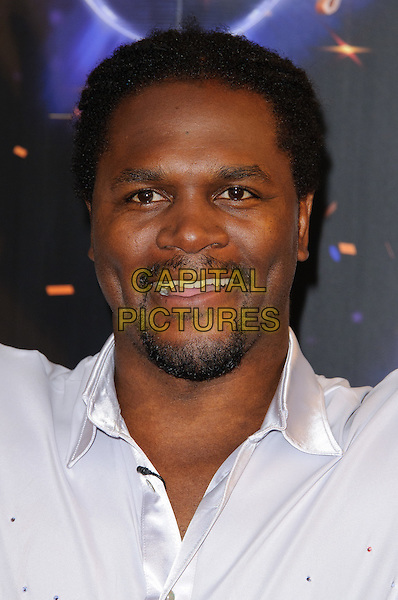 Audley Harrison.Strictly Come Dancing launching event held at the BBC Studios. London, England..September 7th, 2011.headshot portrait white shirt goatee facial hair smiling .CAP/CJ.©Chris Joseph/Capital Pictures.