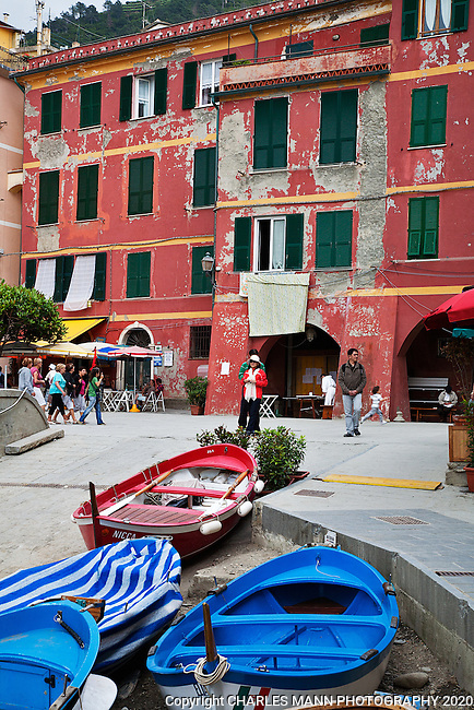 Vernazza has a roomy harbor where boats and bistros share the space with hundreds of visitors.