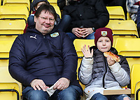 Burnley supporters before the match<br /> <br /> Photographer Andrew Kearns/CameraSport<br /> <br /> The Premier League - Watford v Burnley - Saturday 19 January 2019 - Vicarage Road - Watford<br /> <br /> World Copyright © 2019 CameraSport. All rights reserved. 43 Linden Ave. Countesthorpe. Leicester. England. LE8 5PG - Tel: +44 (0) 116 277 4147 - admin@camerasport.com - www.camerasport.com