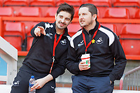 Ewan Donaldson and Chris Barney during the Sky Bet Championship match between Nottingham Forest and Swansea City at City Ground, Nottingham, England, UK. Saturday 30 March 2019