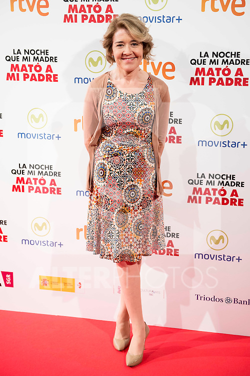 "Maria Pujalte during the presentation of the spanish film ""La noche que mi Madre mato a mi Padre"" at Palacio de la Prensa in Madrid. April 27,2016. (ALTERPHOTOS/Borja B.Hojas)"