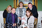 Mary Hannah Ní Scannail Killorglin celebrated her christening with her parents David and Briget god parents Aime O'Shea and Michael cremins and great grandmother Kit Scannell in the Dromhall Hotel on Sunday