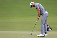 Dustin Johnson (USA) putts on the 18th green during Saturday's Round 3 of the 2017 PGA Championship held at Quail Hollow Golf Club, Charlotte, North Carolina, USA. 12th August 2017.<br /> Picture: Eoin Clarke | Golffile<br /> <br /> <br /> All photos usage must carry mandatory copyright credit (&copy; Golffile | Eoin Clarke)
