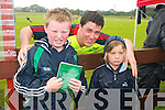 The Munster teams visit to Tralee Rugby club for an open training session which ran in conjunction with the Munster Rugby Summer Camp. Pictured is Ian Nagle with Alex Downey and Sean Pender.
