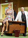 What The Butler Saw by Joe Orton, directed by Sean Foley . With  Omid Djalili as Dr Rance,  Samantha Bond as Mrs Prentice. Opens at The Vaudaville Theatre  on 16/5/12 .CREDIT Geraint Lewis