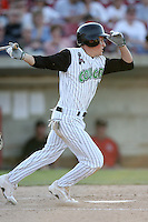 May 25, 2008: Adam Klein (12) of the Kane County Cougars at bat against the Quad Cities River Bandits at Elfstrom Stadium in Geneva, IL. Photo by: Chris Proctor/Four Seam Images