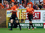 Dundee United v St Johnstone...24.08.13      SPFL<br /> Gary Mackay-Steven celebrates his goal<br /> Picture by Graeme Hart.<br /> Copyright Perthshire Picture Agency<br /> Tel: 01738 623350  Mobile: 07990 594431