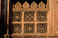 Architectural detail of a window at the Shah Ka Hariza king s tomb Ahmedabad, India