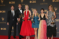 LOS ANGELES - SEP 17:  Jeffrey Nording, Alexander Skarsgard, Nicole Kidman, Reese Witherspoon, Zoe Kravitz, Laura Dern at the 69th Primetime Emmy Awards - Press Room at the JW Marriott Gold Ballroom on September 17, 2017 in Los Angeles, CA
