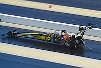 Apr. 14, 2012; Concord, NC, USA: NHRA funny car driver Morgan Lucas during qualifying for the Four Wide Nationals at zMax Dragway. Mandatory Credit: Mark J. Rebilas-