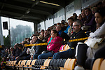 A section of the Annan Athletic support look on from the stand during the first-half against Edinburgh City. The match ended in a 1-1 draw, watched by 351 spectators. City were still without a League win in the new season.