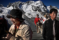 Tourists take the train up to see the Matterhorn and many have their pictures made.  Many are drawn be photographed with the famed St. Bernard dogs, beloved because of lore of rescuing people trapped by avalanches.